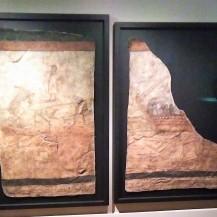 fresque représentant le Christ marchant sur les eaux et la guérison du paralytique - Doura-Europos - Syrie - IIIè siècle